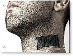 Bar Code On Neck Acrylic Print by Blink Images