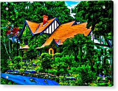 Bar Harbor Cottage Acrylic Print