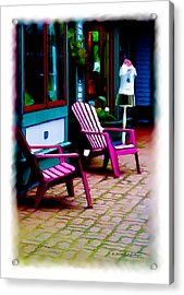 Bar Harbor Dress Shop Acrylic Print