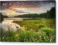 Acrylic Print featuring the photograph Bar Harbor Maine Sunset One by Kevin Blackburn