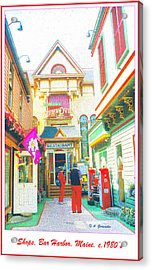 Bar Harbor Maine Shops  Acrylic Print