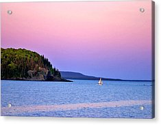 Acrylic Print featuring the painting Bar Harbor Sunset by Larry Darnell