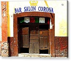 Bar Salon Corona Acrylic Print by Mexicolors Art Photography