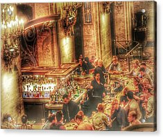 Acrylic Print featuring the photograph Bar Scene by Marianne Dow