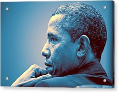 Barack Obama At White House 1 Acrylic Print