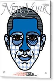 Barack Obama Is Reelected Acrylic Print