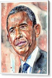 Barack Obama Painting Acrylic Print
