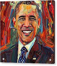 Barack Obama Portrait 2 Acrylic Print