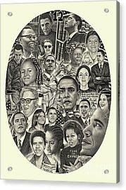 Barack Obama- Time For Change Acrylic Print