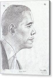 Barak Obama Acrylic Print