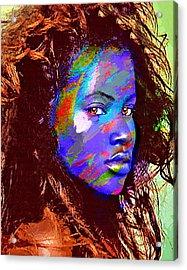 Barbados Woman Acrylic Print by Philip Gresham