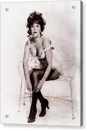 Barbara Ewing, Vintage Actress Acrylic Print