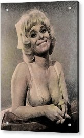 Barbara Windsor, Carry On Actress Acrylic Print by John Springfield