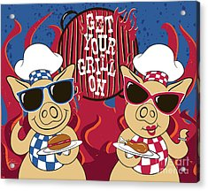 Barbecue Pigs Acrylic Print