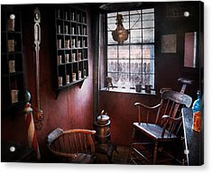 Barber - The Country Barber  Acrylic Print by Mike Savad
