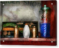 Barber - Things You Stare At  Acrylic Print by Mike Savad