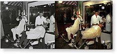 Acrylic Print featuring the photograph Barber - A Time Honored Tradition 1941 - Side By Side by Mike Savad