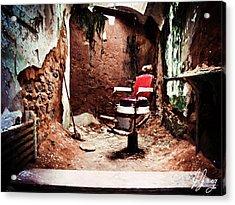 Barber Chair Of Eastern State Penn Acrylic Print