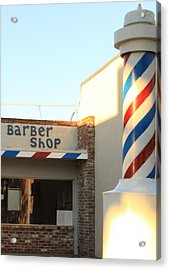 Barber Shop Acrylic Print by Troy Montemayor