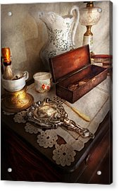 Barber - The Morning Ritual Acrylic Print by Mike Savad