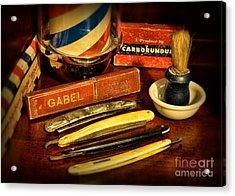 Barber - Vintage Barber Acrylic Print by Paul Ward
