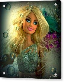 Barbie Bubbles In Hdr Acrylic Print by Melissa Wyatt