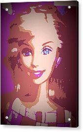 Barbie Hip To Be Square Acrylic Print by Karen J Shine