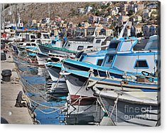 Harbour Of Simi Acrylic Print