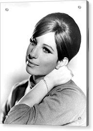Barbra Streisand, Portrait From Funny Acrylic Print by Everett