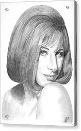 Barbra Streisand Acrylic Print by Rob De Vries
