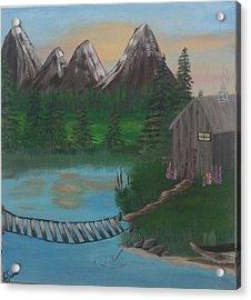 Barbs Place Acrylic Print by Lori Lafevers