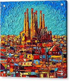 Barcelona Abstract Cityscape - Sagrada Familia Acrylic Print