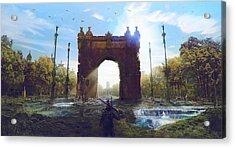 Barcelona Aftermath Arc De Triomf Acrylic Print by Guillem H Pongiluppi