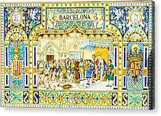 Barcelona - Azulejo Acrylic Print