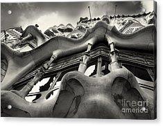 Barcelona Casa Batllo Black White Acrylic Print