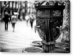Barcelona Drinking Fountain Acrylic Print by John Rizzuto
