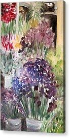 Barcelona Flower Mart Acrylic Print