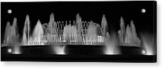 Acrylic Print featuring the photograph Barcelona Fountain Nightlights by Farol Tomson