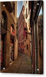 Acrylic Print featuring the photograph Barcelona - Gothic Quarter 003 by Lance Vaughn