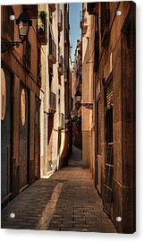 Acrylic Print featuring the photograph Barcelona - Gothic Quarter 004 by Lance Vaughn