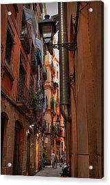 Acrylic Print featuring the photograph Barcelona - Gothic Quarter 002 by Lance Vaughn