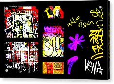 Barcelona Graffiti  Acrylic Print by Funkpix Photo Hunter