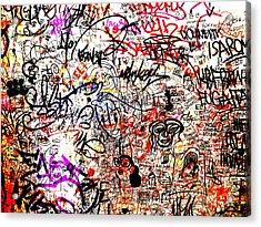 Barcelona Graffiti Heaven Acrylic Print by Funkpix Photo Hunter