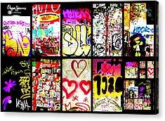 Barcelona Graffiti Wall  Acrylic Print by Funkpix Photo Hunter