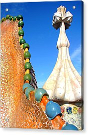 Barcelona Impression 1 Acrylic Print by Ana Maria Edulescu