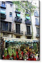 Barcelona Las Ramblas Acrylic Print by Julie Palencia