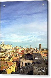 Acrylic Print featuring the photograph Barcelona Rooftops by Colleen Kammerer