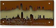 Barcelona Skyline.1 Acrylic Print by Alberto RuiZ