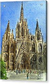 Barcelona Spain Acrylic Print by Irina Sztukowski