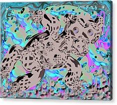 Bare Bear Acrylic Print by Marko Mitic